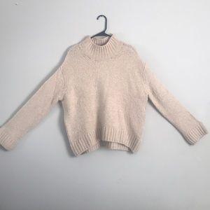Pearl nude oversized H&M sweater.